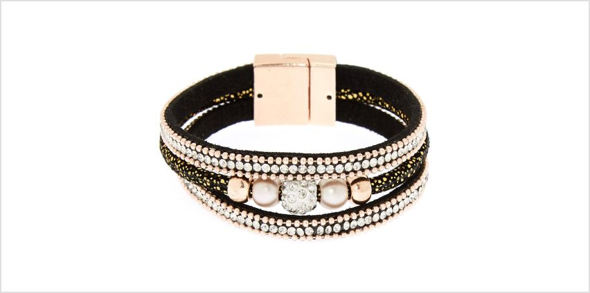 Go to Product: Embellished Fireball Wrap Bracelet - Black from Claires