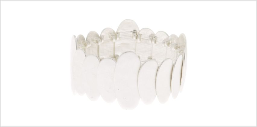 Go to Product: Brushed Silver Pebble Stretch Bracelet from Claires