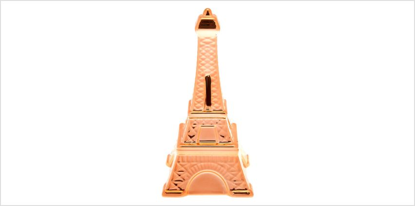 Go to Product: Eiffel Tower Coin Bank - Rose Gold from Claires
