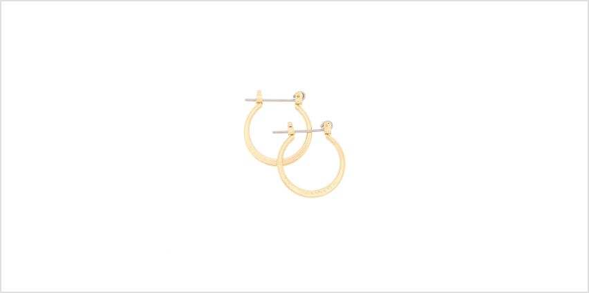 Go to Product: Gold 15MM Knife Edge Hoop Earrings from Claires