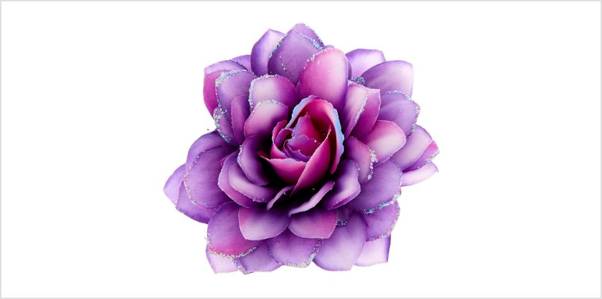 Go to Product: Glitter Ombre Flower Hair Barrette - Purple from Claires
