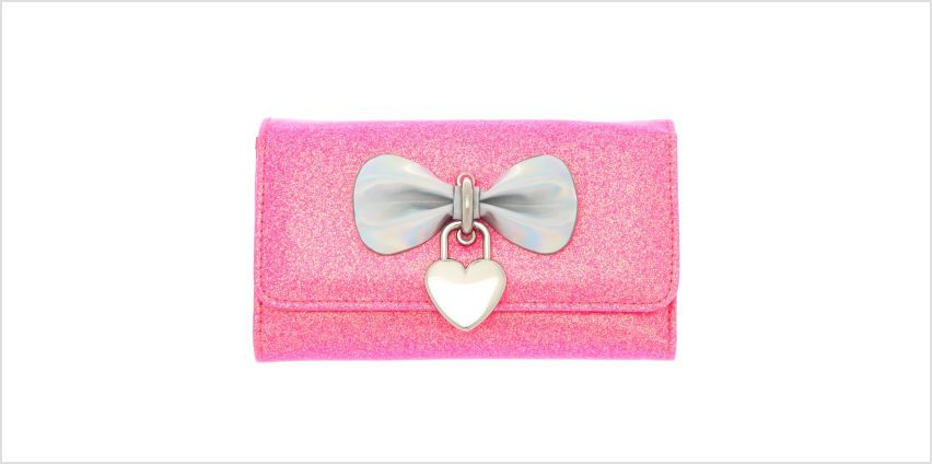 Go to Product: Glitter Heart Charm Wallet - Pink from Claires
