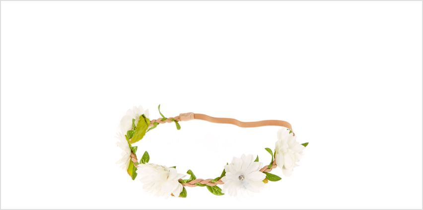 Go to Product: White Daisy Flower Headwrap from Claires