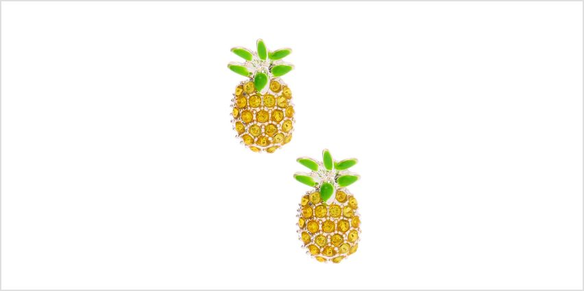 Go to Product: Embellished Pineapple Stud Earrings - Yellow from Claires