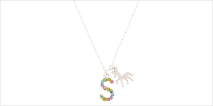 Go to Product: Rainbow Initial Necklace - S from Claires