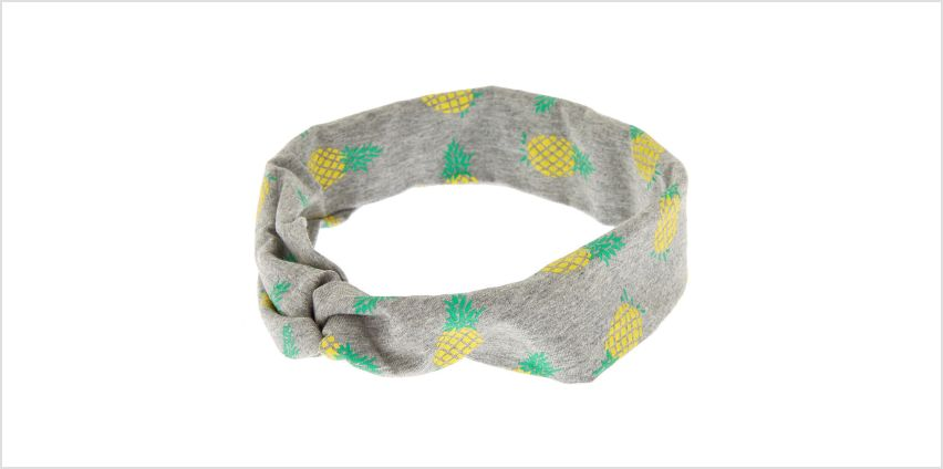 Go to Product: Pineapple Twisted Headwrap - Grey from Claires