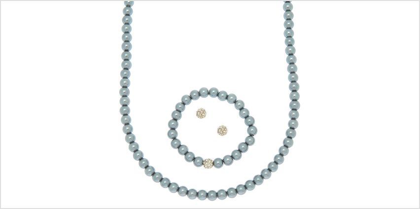 Go to Product: Pearl Jewellery Set - Silver, 3 Pack from Claires