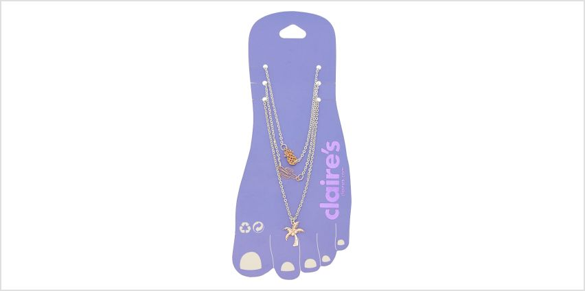Go to Product: Mixed Metal Tropical Anklets - 3 Pack from Claires
