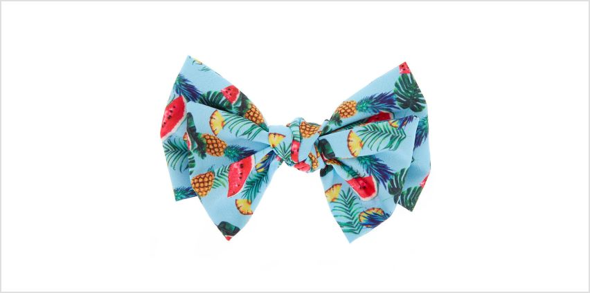 Go to Product: Tropical Fruit Hair Bow Clip - Blue from Claires