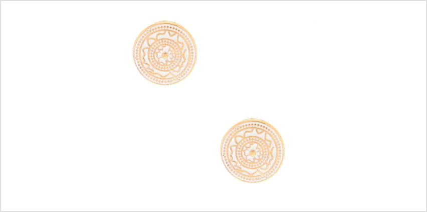 Go to Product: Gold Circle Stud Earrings - White from Claires