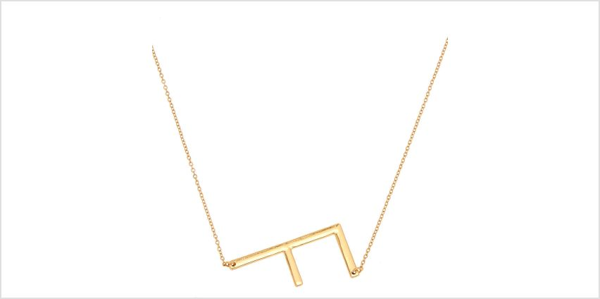 Go to Product: Oversized Initial Pendant Necklace - F from Claires