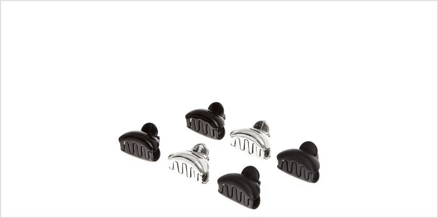Go to Product: Metallic Mini Claw Clips - Black, 6 Pack from Claires