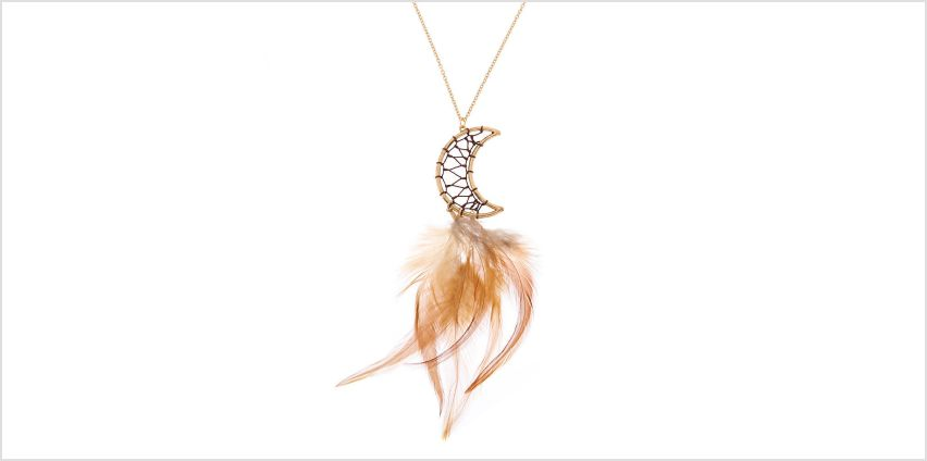 Go to Product: Gold Moon Dreamcatcher Long Pendant Necklace from Claires