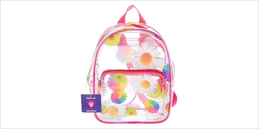 Go to Product: Rainbow Daisy Light Up Midi Backpack - Clear from Claires