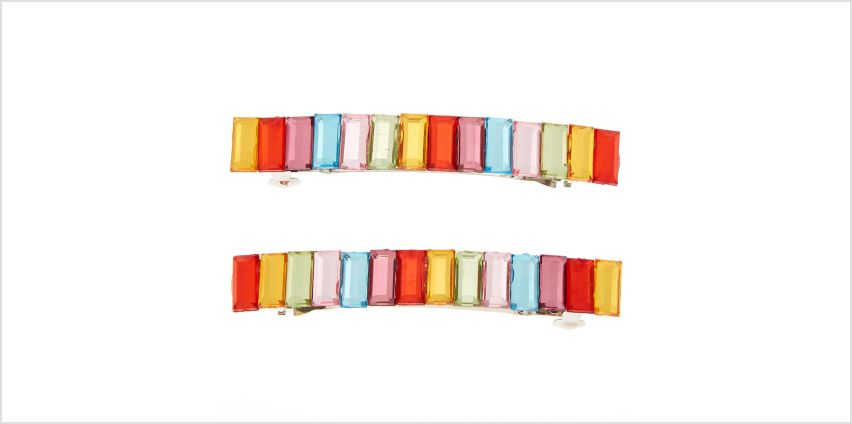 Go to Product: Rainbow Clear Stone Barrettes - 2 Pack from Claires