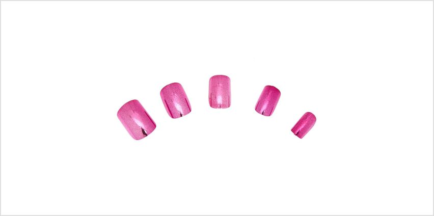 Go to Product: Metallic Square Faux Nail Set - Pink, 24 Pack from Claires