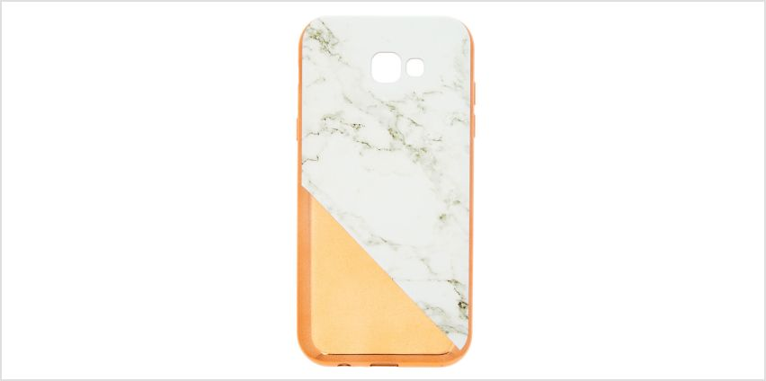 Go to Product: Rose Gold Marble Phone Case - Fits Samsung Galaxy A7 from Claires