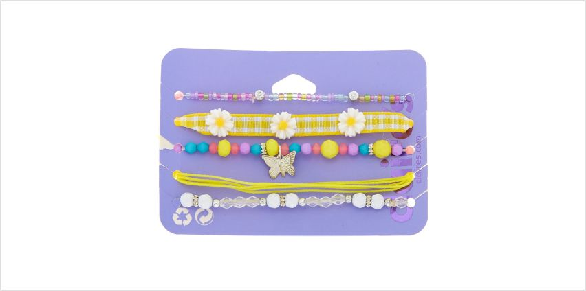 Go to Product: Spring Dreams Bracelets - Yellow, 5 Pack from Claires