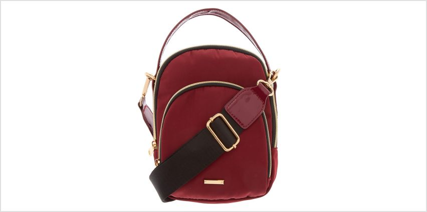 Go to Product: Messenger Crossbody Bag - Burgundy from Claires
