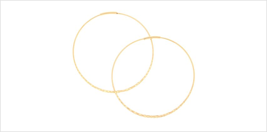 Go to Product: Gold 60MM Hammered Hoop Earrings from Claires