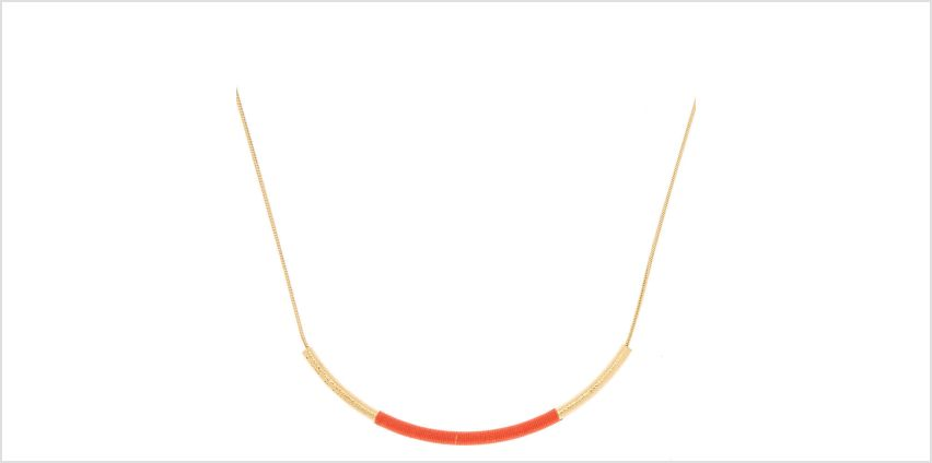 Go to Product: Gold Bar Statement Necklace - Coral from Claires