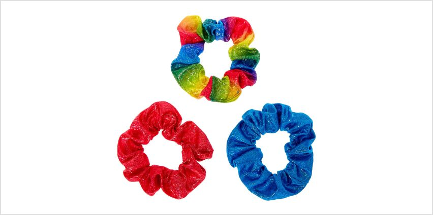 Go to Product: Holographic Hair Scrunchies - 3 Pack from Claires