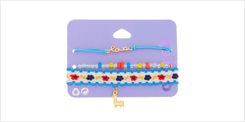 Go to Product: Gold Llama Floral Bracelets - 3 Pack from Claires