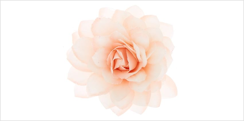 Go to Product: Large Glitter Flower Hair Clip - Blush Pink from Claires