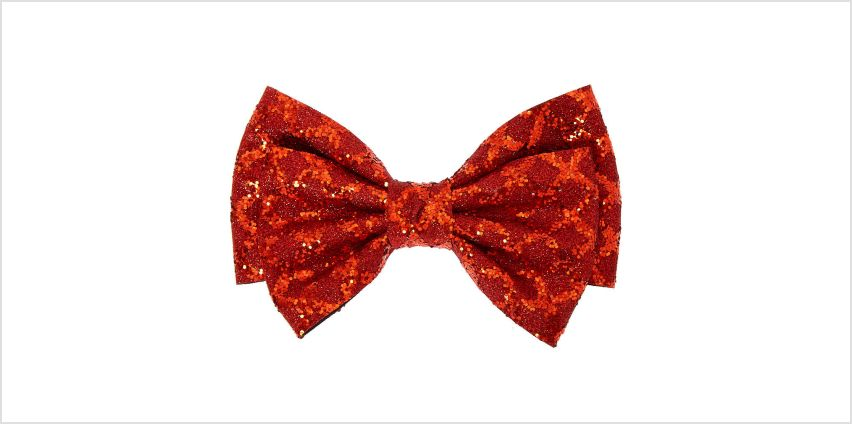 Go to Product: Christmas Glitter Hair Bow Clip - Red from Claires