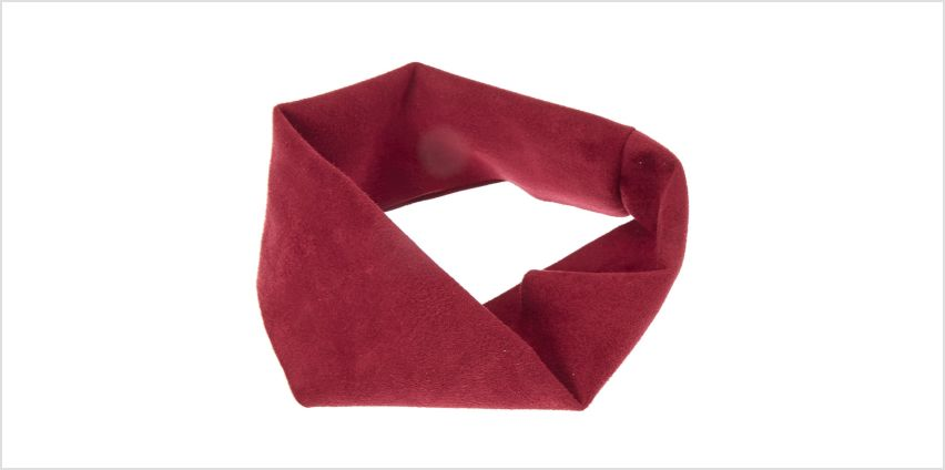 Go to Product: Wide Suede Burgundy Headwrap from Claires