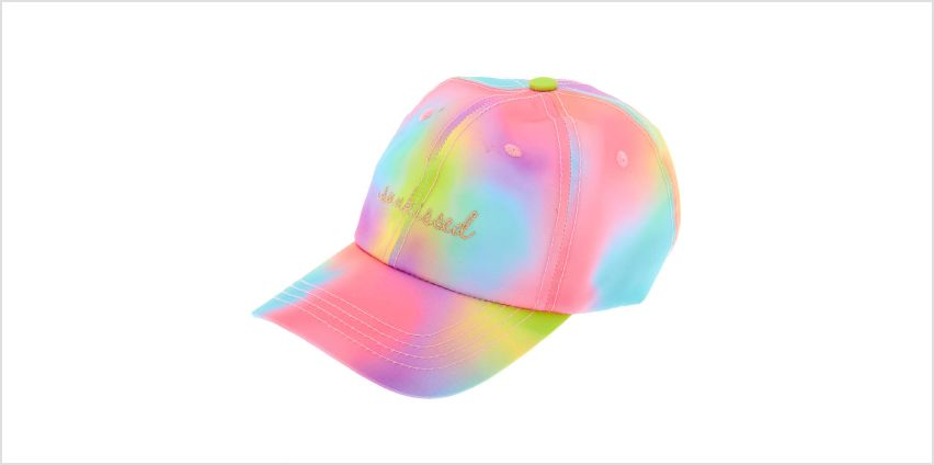 Go to Product: Sunkissed Rainbow Tie-Dye Baseball Cap from Claires