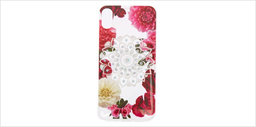 Go to Product: Floral Bling Mandala Protective Phone Case - Fits iPhone X/XS from Claires