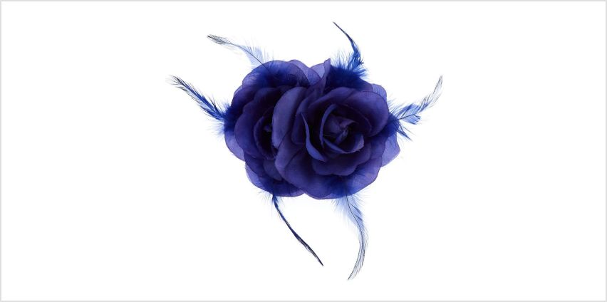 Go to Product: Double Rose Hair Flower Clip - Royal Blue from Claires