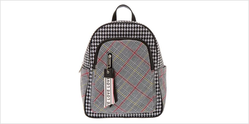 Go to Product: Plaid Houndstooth Midi Backpack from Claires