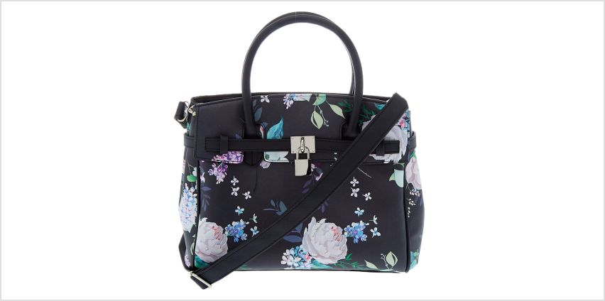 Go to Product: Floral Satchel Crossbody Bag - Black from Claires