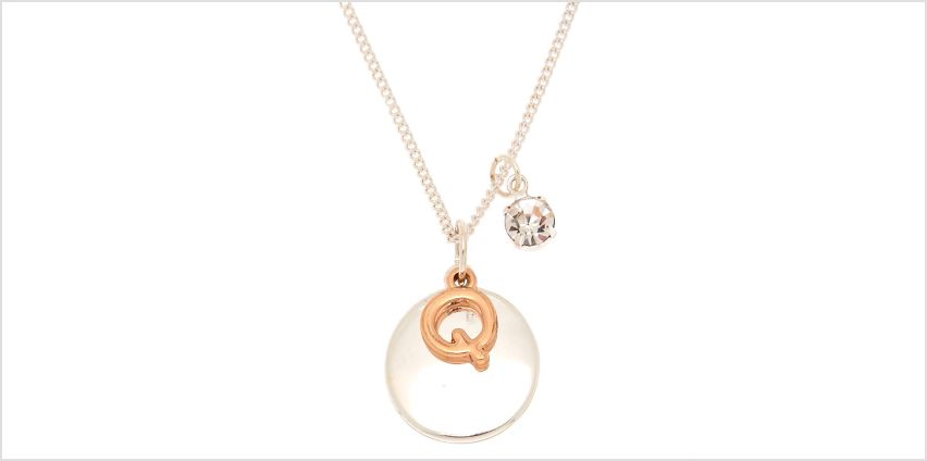 Go to Product: Mixed Metal Initial Charm Pendant Necklace - Q from Claires