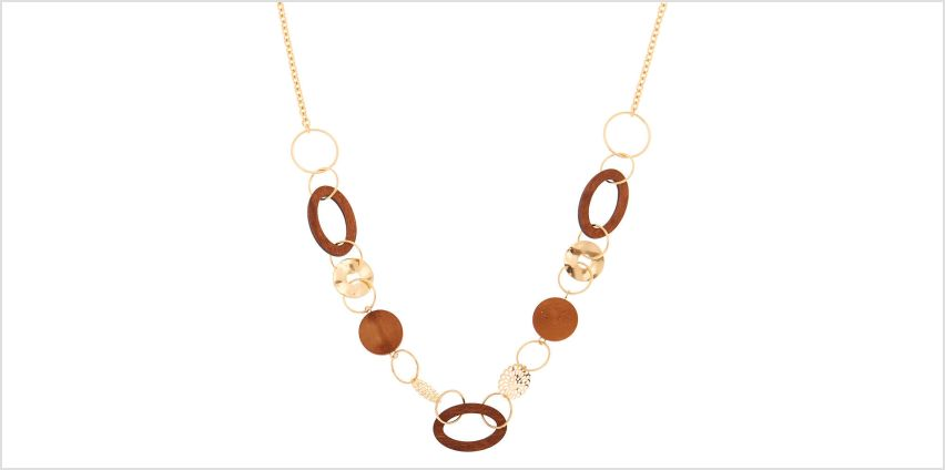 Go to Product: Gold Wooden Link Statement Necklace from Claires