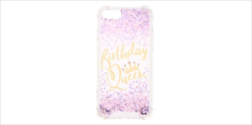 Go to Product: Birthday Queen Confetti Phone Case - Fits iPhone 6/7/8 from Claires