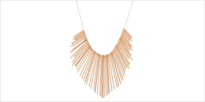 Go to Product: Rose Gold Glitter Bar Bib Statement Necklace from Claires
