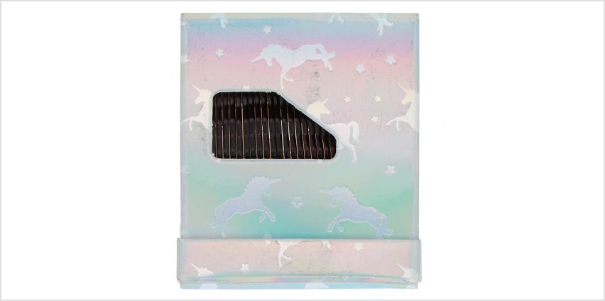 Go to Product: Unicorn Matchbook Bobby Pins - Black, 24 Pack from Claires