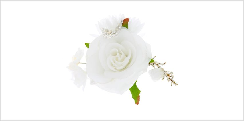 Go to Product: Butterfly Flower Cluster Hair Clip - White from Claires