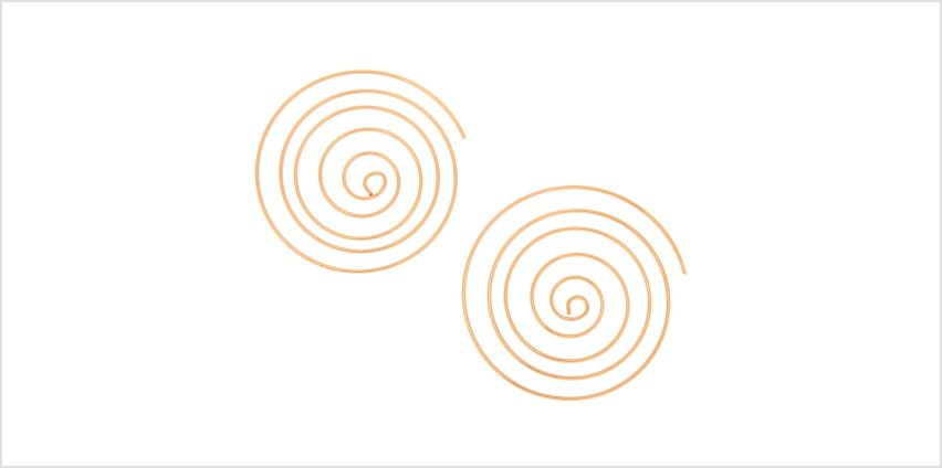 Go to Product: Gold 60MM Spiral Hoop Earrings from Claires