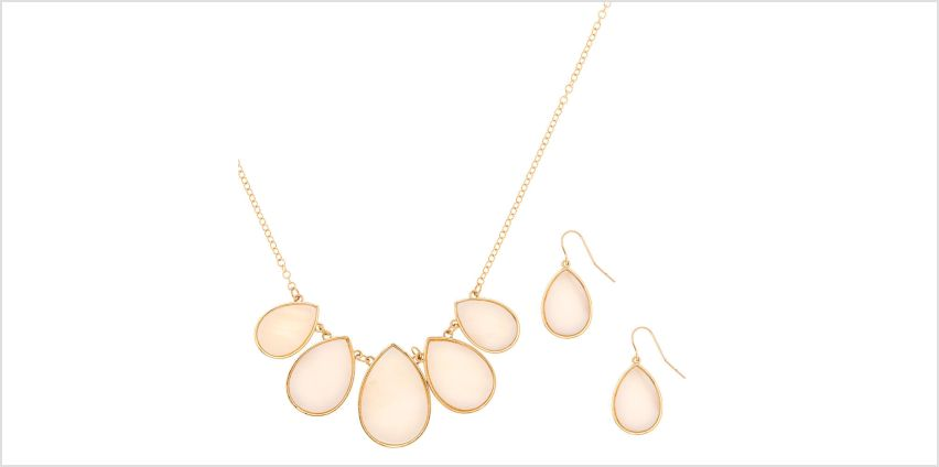 Go to Product: Gold Shell Teardrop Jewellery Set - White, 2 Pack from Claires