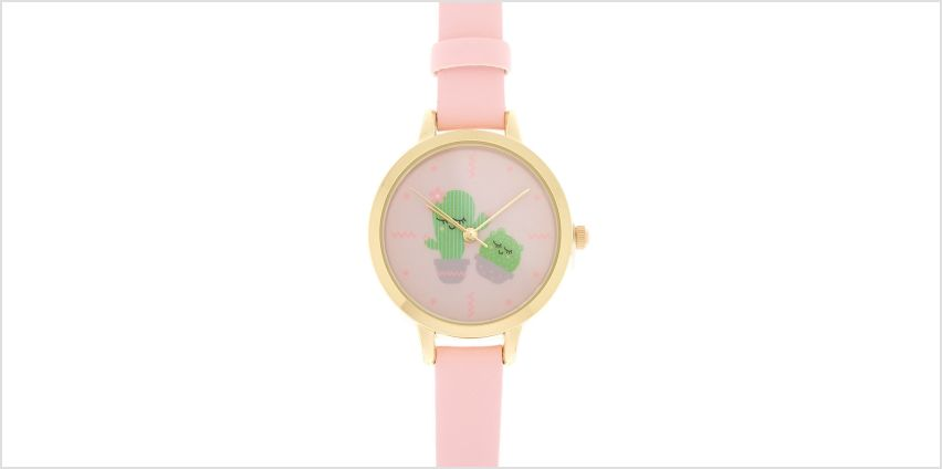 Go to Product: Cute Cactus Classic Watch - Pink from Claires