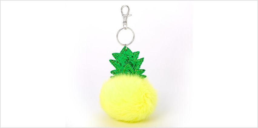 Go to Product: Plush Pom Pineapple Keychain - Yellow from Claires
