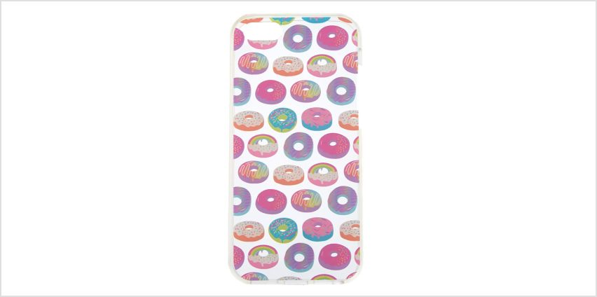 Go to Product: Rainbow Donut Phone Case - Fits iPhone 5/5S from Claires