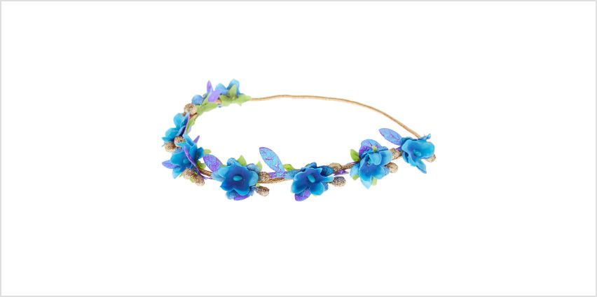 Go to Product: Ocean Glitter Flower Crown Headwrap - Turquoise from Claires