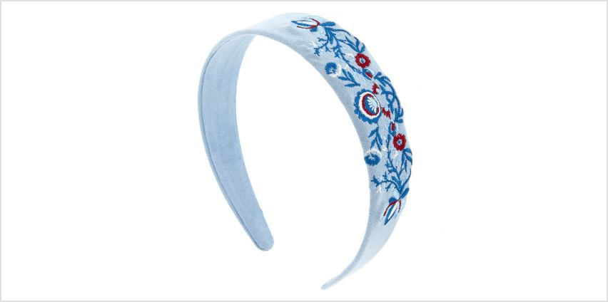 Go to Product: Baby Blue Flower Patch Headband from Claires