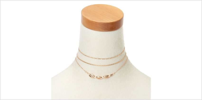 Go to Product: Gold Cowrie Shell Choker Necklaces - 3 Pack from Claires