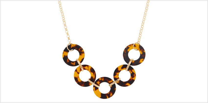 Go to Product: Gold Resin Tortoiseshell Link Statement Necklace - Brown from Claires
